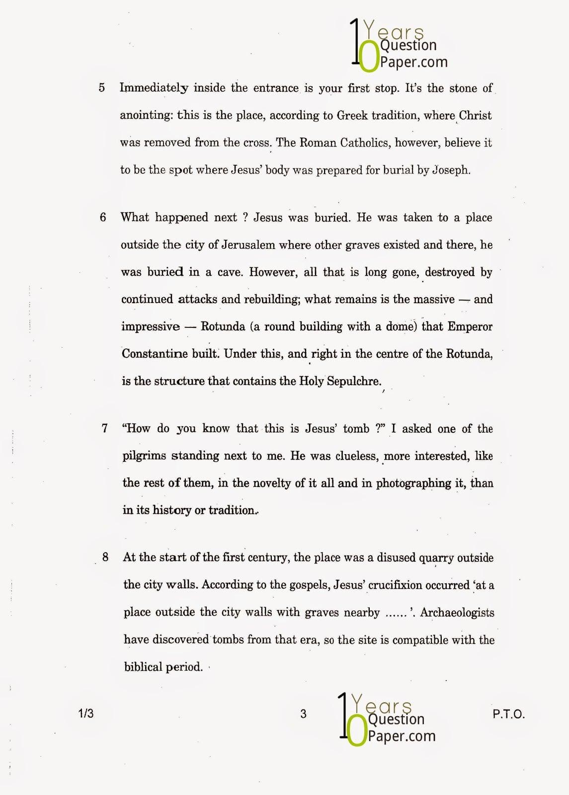 CBSE Class 12 English Core 2015 Question Paper