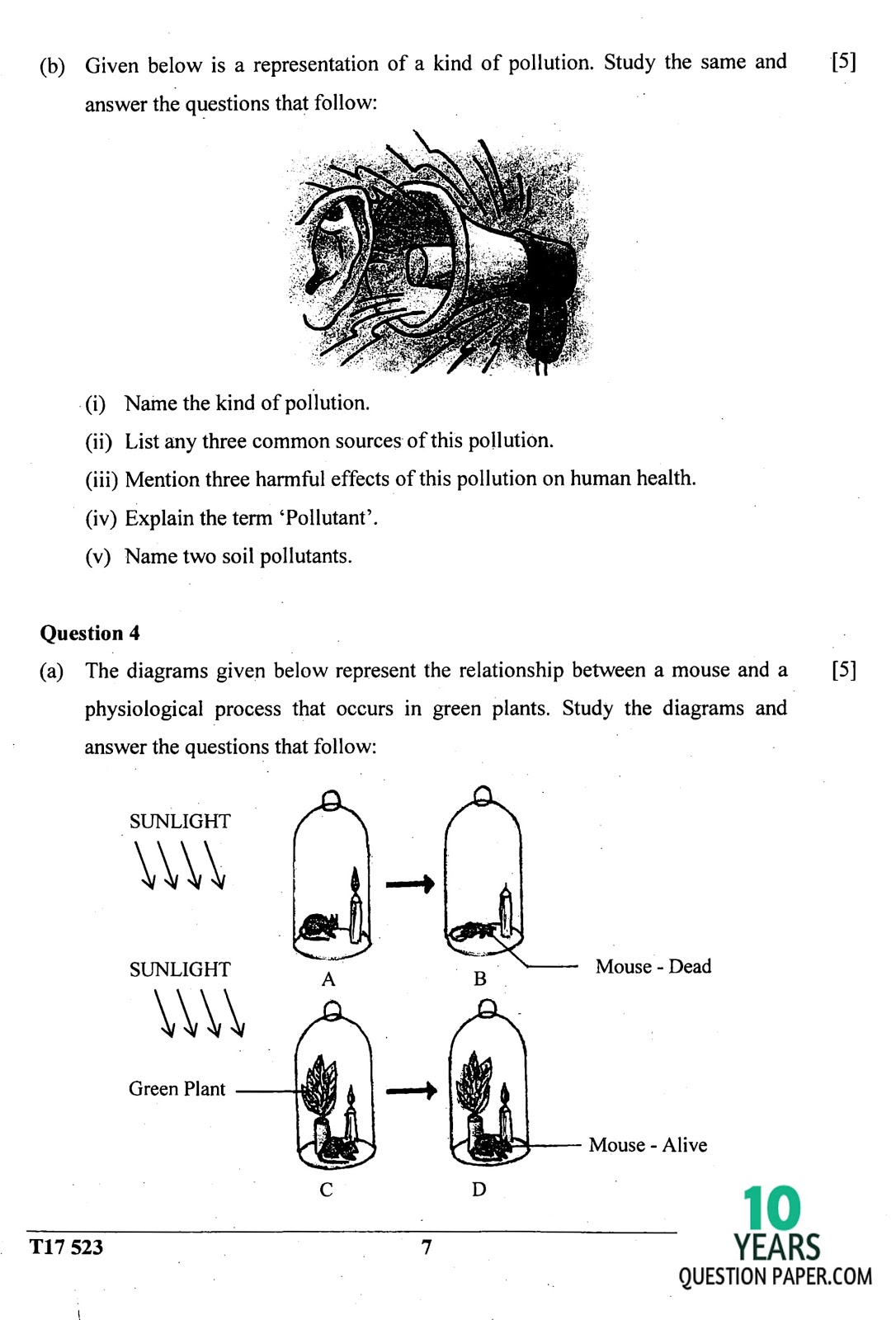 ICSE Class 10 Biology 2017 Question Paper