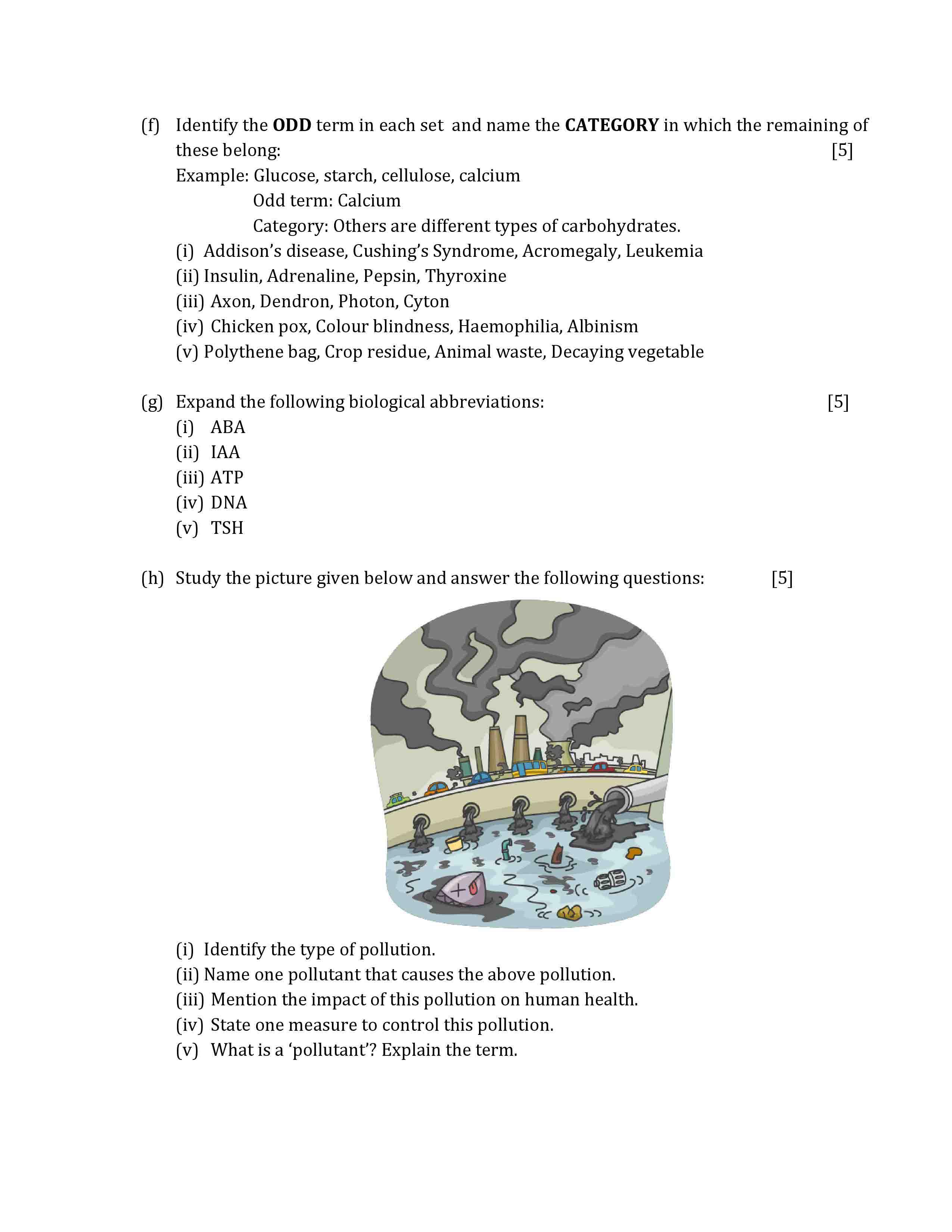 ICSE Class 10 Biology 2019 Question Paper