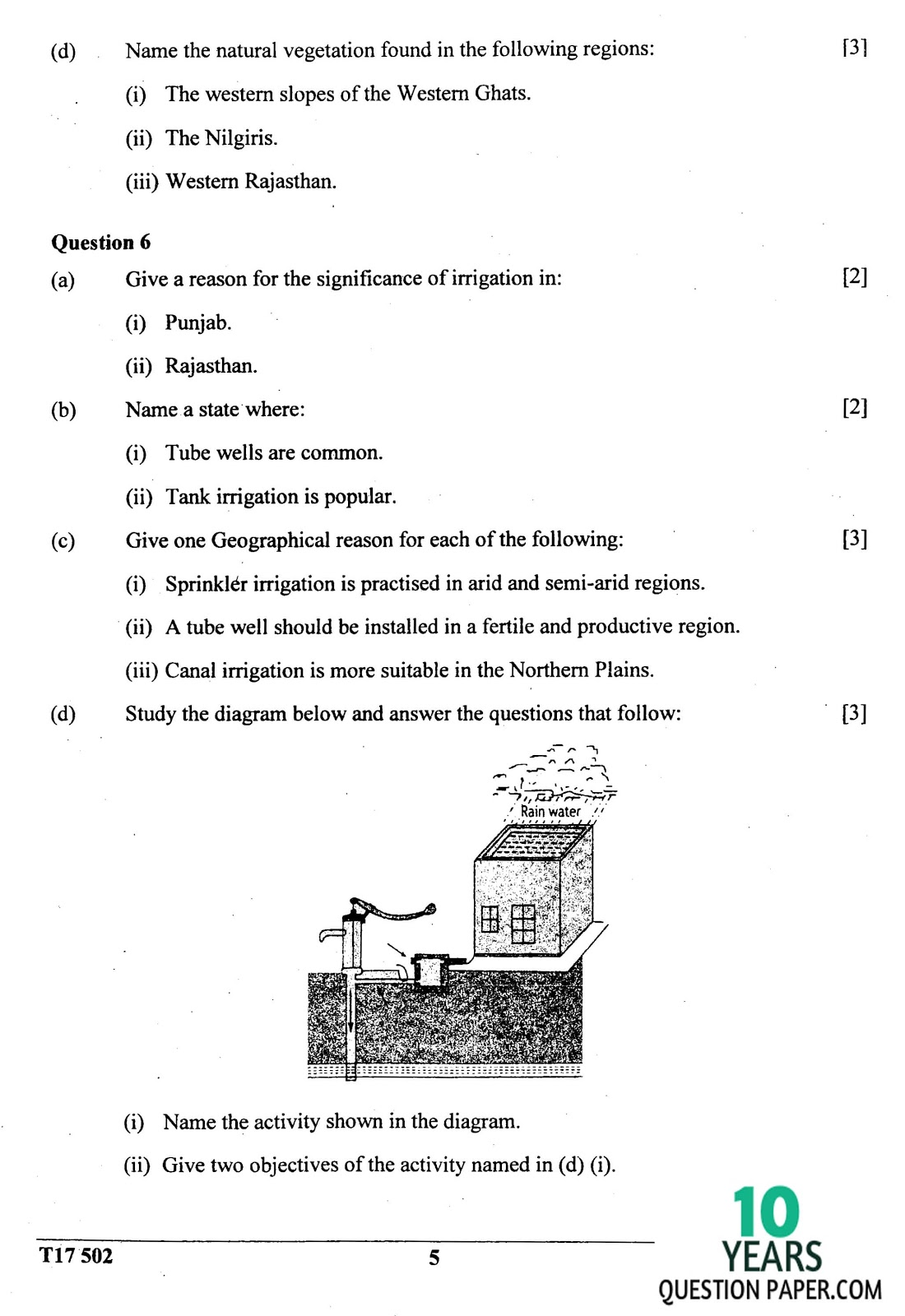 ICSE Class 10 Geography 2017 Question Paper