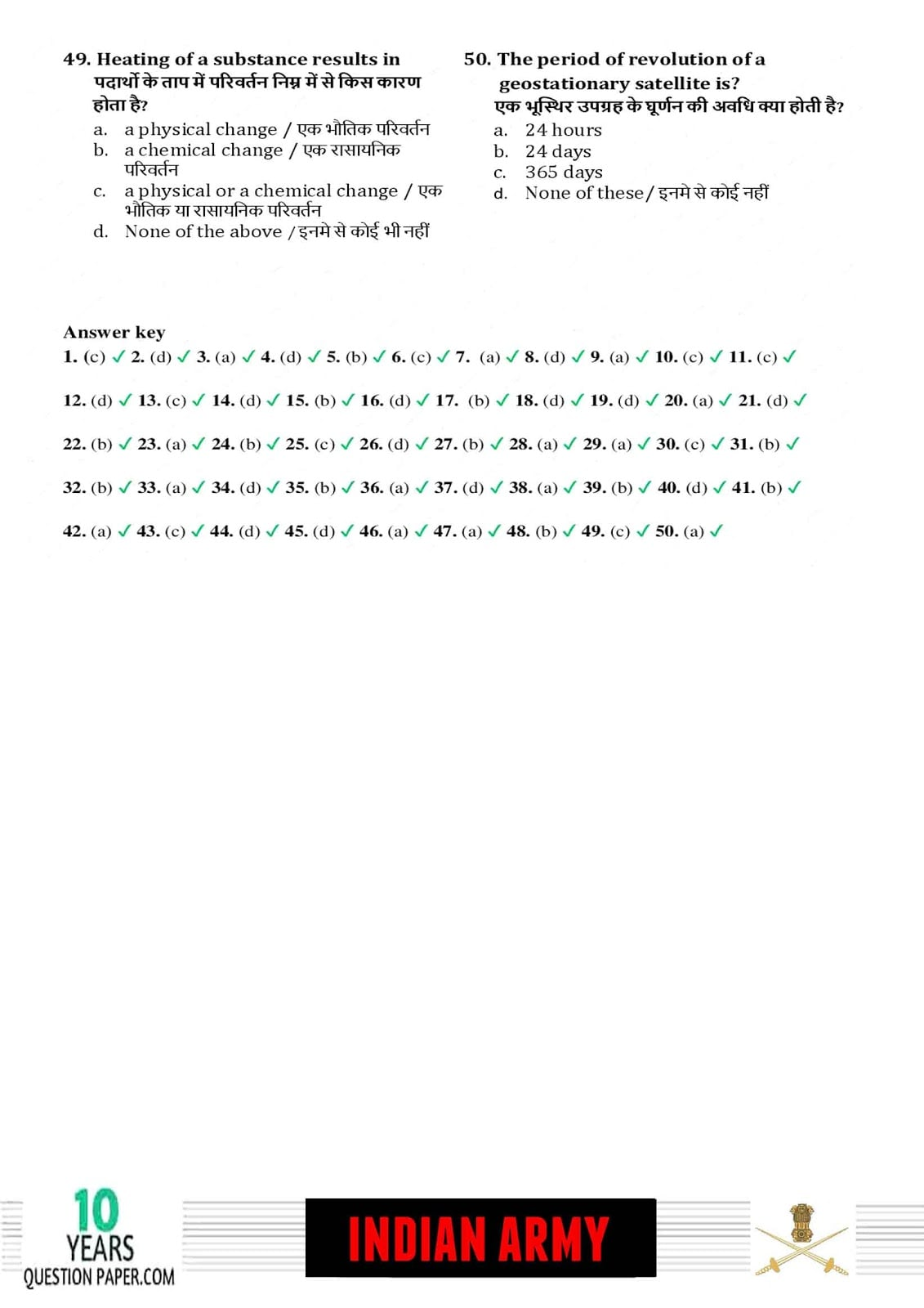 Indian Army Technical 2018 Question Paper