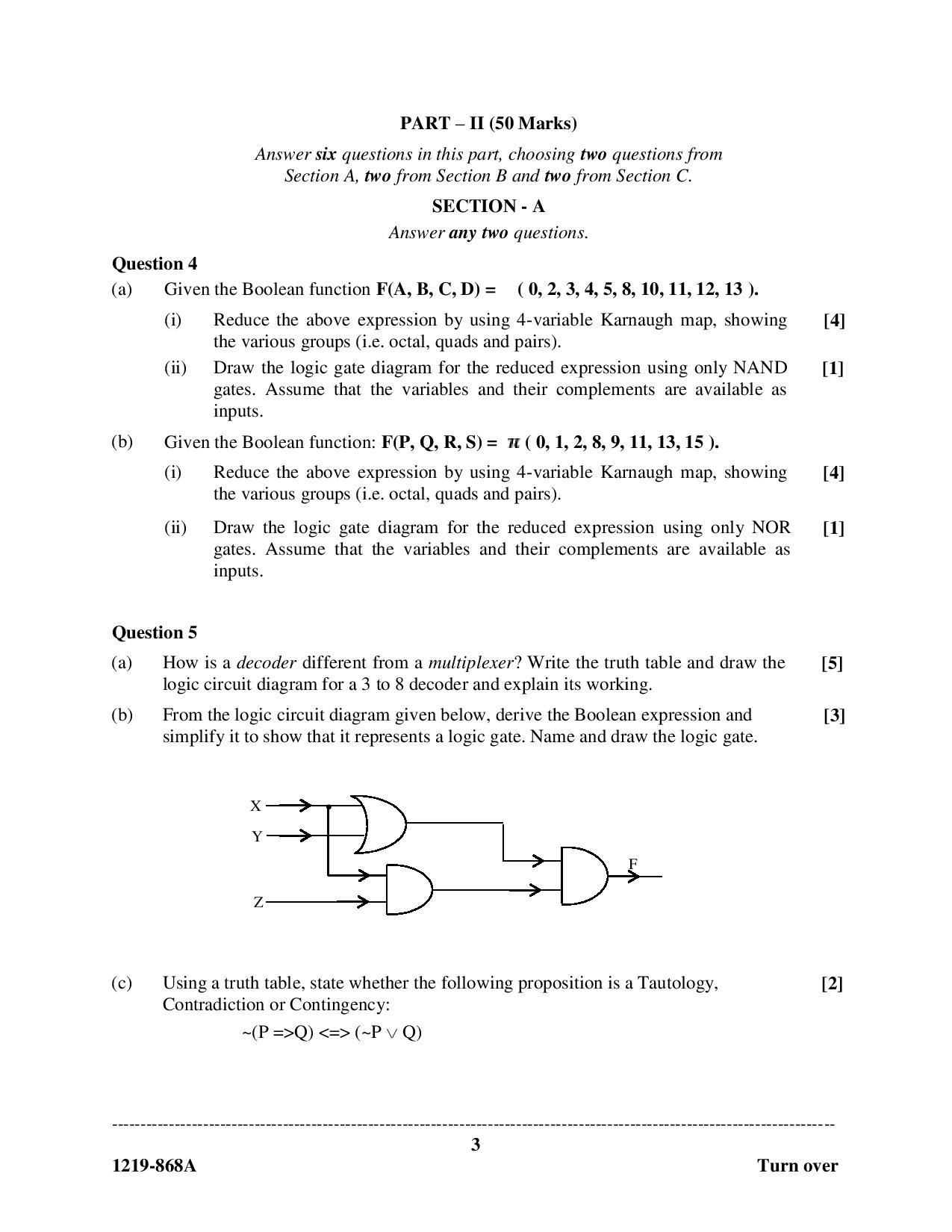 ISC Class 12 Computer Science 2019 Question Paper
