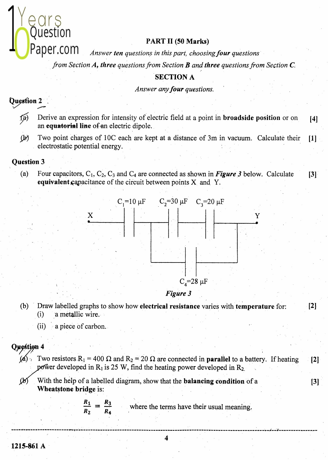 ISC Class 12 Physics 2015 Question Paper