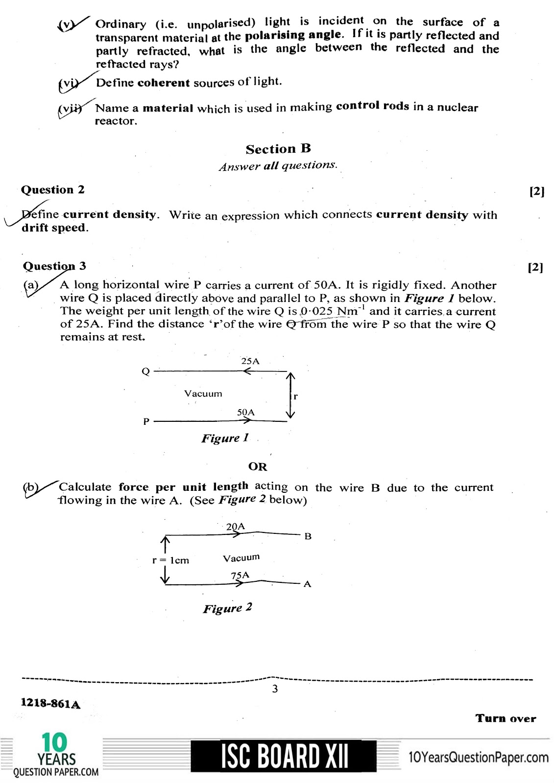 ISC Class 12 Physics 2018 Question Paper
